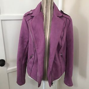 Jackets & Blazers - ✨HP 7/7✨ Plus Size Suede-Like Motorcycle Jacket